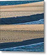 Sand And Water Textures Abstract Metal Print