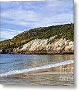 Sand Beach Acadia Metal Print