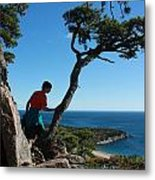 Sand Beach From The Beehive Metal Print