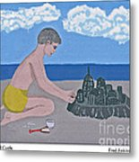 Sand Castle Metal Print by Fred Jinkins