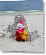 Sand Castle Jester Metal Print by William Patrick