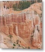 Sand Castles In Bryce Canyon Metal Print by Mari  Gates