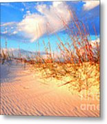 Sand Dune And Sea Oats At Sunset Metal Print