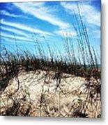 Sand Dune At Alantic Beach Metal Print by Joan Meyland