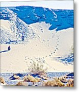 Sand Dune Bordering Salt Creek Trail In Death Valley National Park-california Metal Print