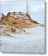 Sand Dune In Winter Metal Print
