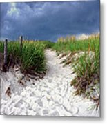Sand Dune Under Storm Metal Print by Olivier Le Queinec