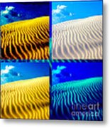 Sand Dunes Collage Metal Print