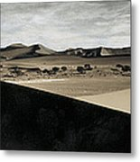 Sand Dunes In A Desert, Namib Desert Metal Print