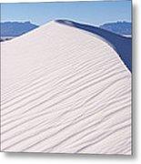 Sand Dunes In A Desert, White Sands Metal Print