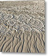 Sand Dunes Like Fine Cloth Metal Print
