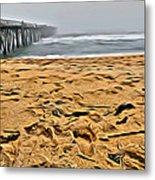 Sand On The Beach Metal Print