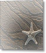 Sand Prints And Starfish II Metal Print
