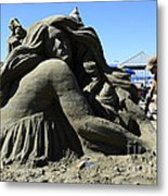 Sand Sculpture 1 Metal Print by Bob Christopher