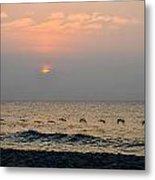 Sand Sea Sun Metal Print
