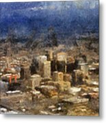 Sand Storm Approaching Phoenix Photo Art Metal Print