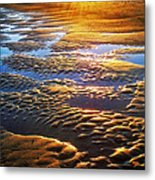 Sand Textures At Sunset Metal Print