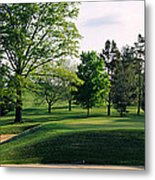 Sand Traps On A Golf Course, Baltimore Metal Print