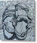 Sandals - Doodle  Metal Print