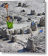 Sandcastle Squatters Metal Print by Betsy Knapp
