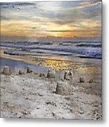 Sandcastle Sunrise Metal Print