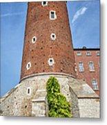 Sandomierska Tower Of Wawel Castle In Krakow Metal Print