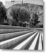 Sandpiper Stairs Bw Palm Desert Metal Print by William Dey