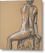 Sandra  -back Nude Metal Print