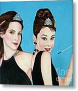 Sandra Bullock And Audrey Hepburn Metal Print