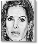 Sandra Bullock In 2005 Metal Print