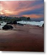 Sands And Sailors Metal Print