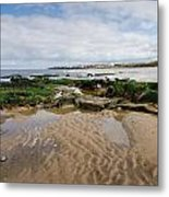 Sands Of Whitley Bay Metal Print