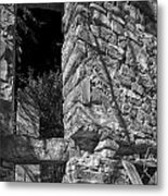 Sandstone Arch Jerome Black And White Metal Print