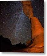 Sandstone Arch Meets Milky Way Skies Metal Print by Mike Berenson