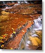 Sandstone Cascade Metal Print