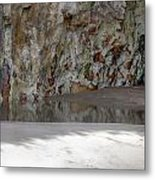 Sandstone Cave V2 Metal Print