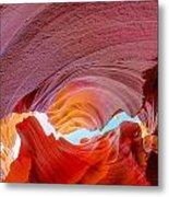 Sandstone Chasm Metal Print