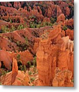 Sandstone Hoodoos At Sunrise Bryce Canyon National Park Utah Metal Print