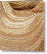 Sandstone Lines Metal Print