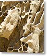 Sandstone Rock Formation Two At Big Sur  Metal Print by Artist and Photographer Laura Wrede