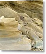 Sandstone Sediment Smoothed And Rounded By Water Metal Print