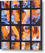 Sandstone Sunsongs Blues Photo Assemblage Metal Print