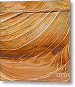 Sandstone Swirls Metal Print