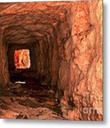 Sandstone Tunnel Metal Print