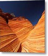 Sandstone Waves Metal Print