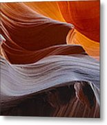 Sandstone Waves Metal Print