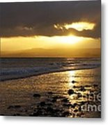 Sandy Bay At Dusk Metal Print