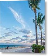 Sandy Beach And Beautiful Clouds  Metal Print
