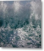 Sandy Beach Backwash Metal Print