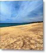 sandy beach in Piscinas Metal Print